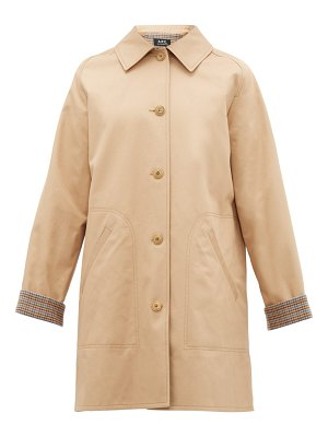 A.P.C. india cotton gabardine overcoat