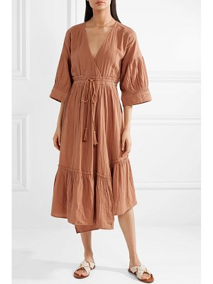 Apiece Apart anichka wrap-effect cotton-gauze midi dress