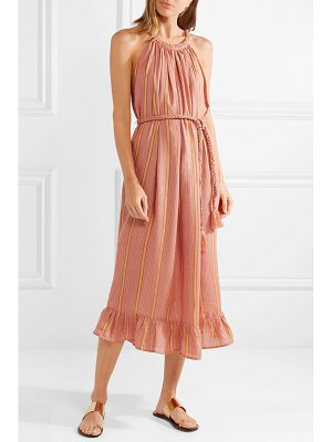 Apiece Apart caspia striped gauze midi dress