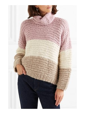 Apiece Apart convertible striped ribbed alpaca-blend sweater
