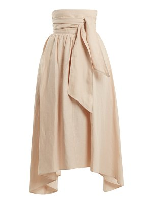 Apiece Apart Cosmos convertible linen-blend skirt