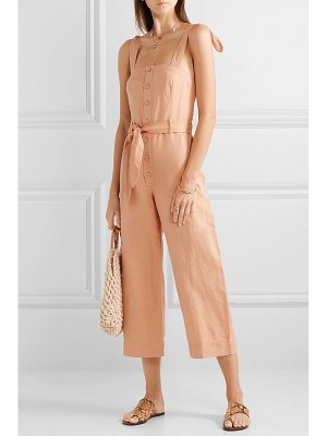 Apiece Apart deia cotton and linen-blend twill jumpsuit