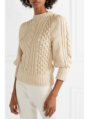 Apiece Apart ermita cable-knit cotton sweater