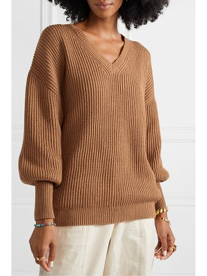 Apiece Apart napoli oversized ribbed cotton and cashmere-blend sweater