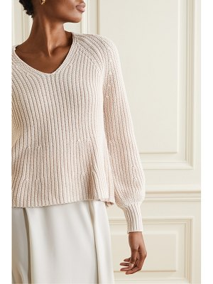 Apiece Apart sequoia ribbed cotton and cashmere-blend sweater