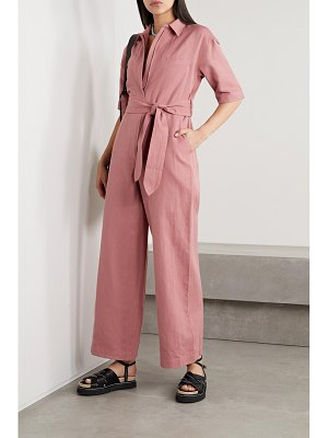 Apiece Apart sveta belted linen and cotton-blend twill jumpsuit