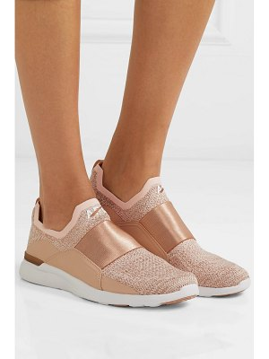 APL: Athletic Propulsion Labs techloom bliss stretch-faille trimmed metallic mesh and neoprene sneakers