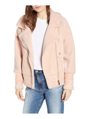 Apparis anne faux shearling biker jacket