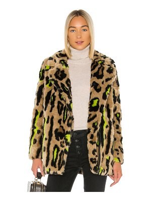 Apparis chloe faux fur coat