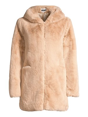 Apparis marie hooded faux fur coat