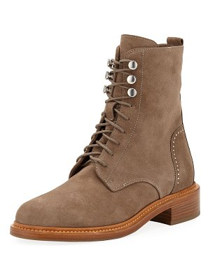 Aquatalia Ali Suede Lace-up Combat Boots