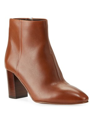 Aquatalia Florita Leather Zip Booties