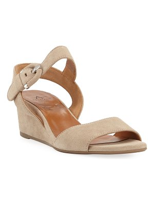 Aquatalia Kylee Demi-Wedge Suede Sandals