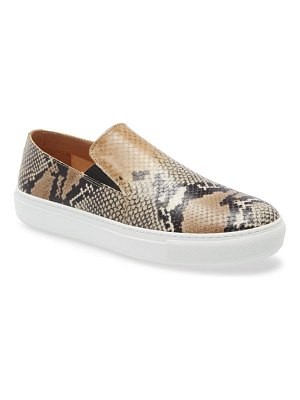 Aquatalia orilla snakeskin embossed slip-on sneaker