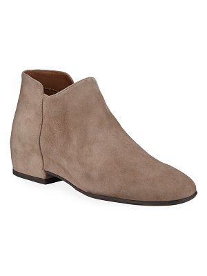 Aquatalia Udele Side Zip Suede Booties