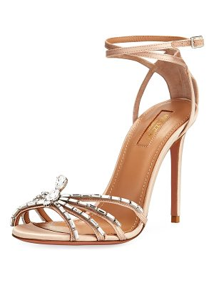 Aquazzura 105mm Ankle-Wrap Spider Sandal