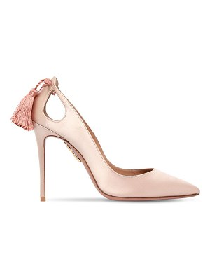 Aquazzura 105mm forever marylyn satin pumps