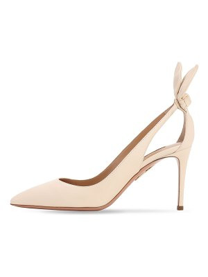 Aquazzura 85mm deneuve leather pumps