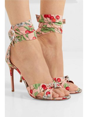 Aquazzura all tied up printed canvas sandals