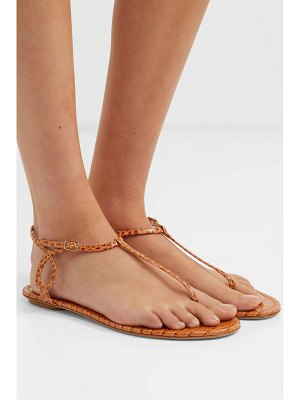 Aquazzura almost bare croc-effect leather sandals