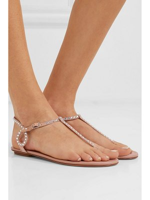 Aquazzura almost bare crystal-embellished leather sandals