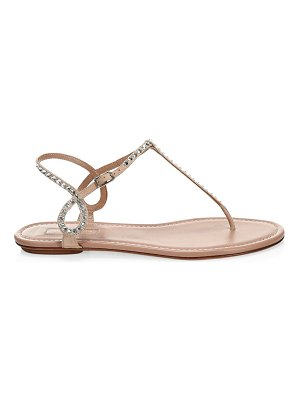 Aquazzura almost bare crystal t-strap sandals