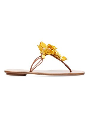 Aquazzura bougainvillea leather thong sandals