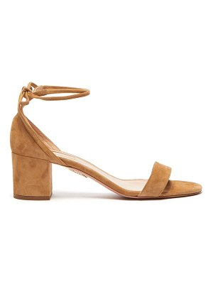 Aquazzura city 50 block-heel suede sandals
