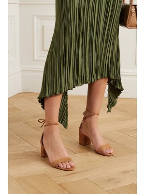 Aquazzura city 50 suede sandals