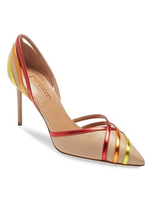 Aquazzura cosmo rainbow d'orsay pointed toe pump