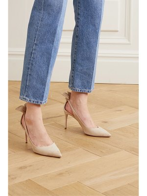Aquazzura deneuve 85 bow-embellished suede pumps
