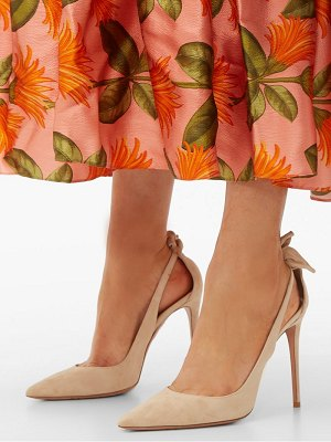 Aquazzura deneuve 105 bow suede pumps