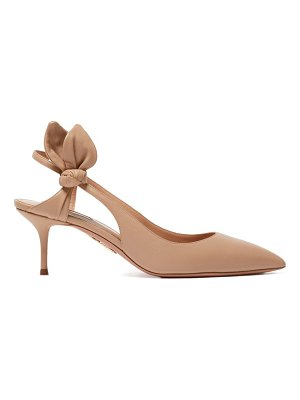 Aquazzura drew 60 bow-embellished leather pumps