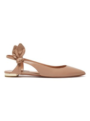 Aquazzura drew bow-embellished leather flats