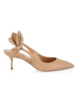 Aquazzura drew leather slingback pumps