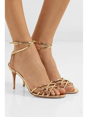 Aquazzura very first kiss 75 metallic leather sandals