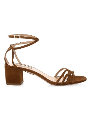Aquazzura first kiss suede sandals