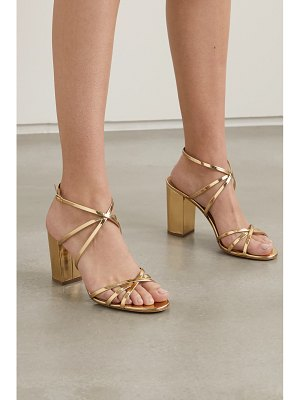 Aquazzura gin 85 metallic patent-leather sandals