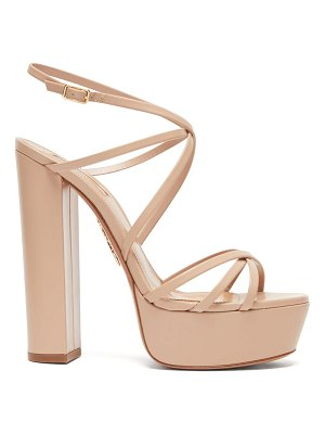 Aquazzura gin crossover-strap leather platform sandals