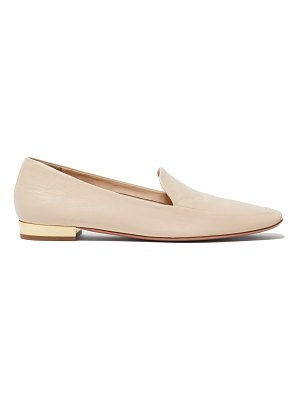 Aquazzura greenwich smooth leather loafers