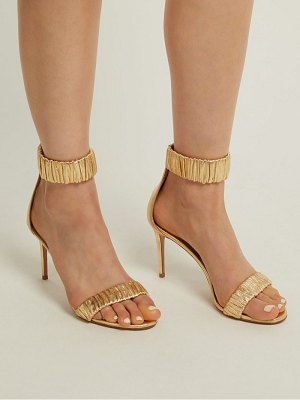 Aquazzura Liberty 85 Ruched Leather Sandals