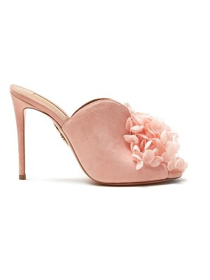 Aquazzura Lily Of The Valley 105 floral-embellished mules