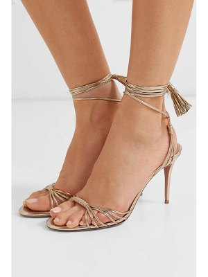 Aquazzura mescal 85 metallic leather sandals