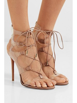Aquazzura milos 105 leather and pvc sandals