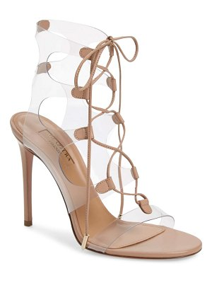 Aquazzura milos pvc lace-up sandal