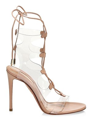 Aquazzura milos translucent & leather lace-up sandals