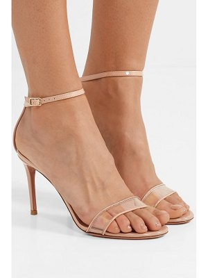 Aquazzura minimalist 85 patent-leather and pvc sandals