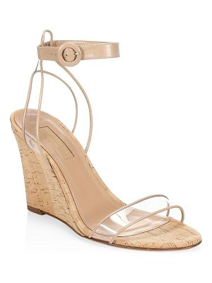 Aquazzura minimalist cork wedge heels