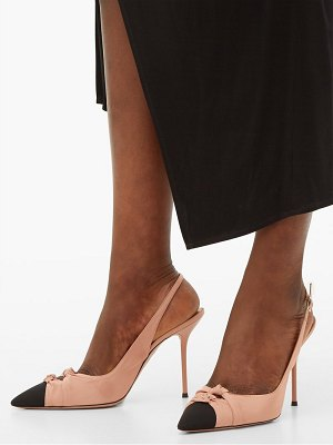 Aquazzura mondaine 95 knotted slingback faille pumps