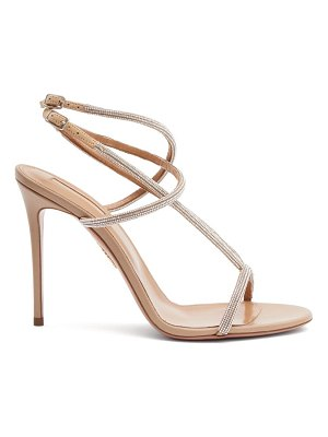 Aquazzura moondust 105 crystal-strap leather sandals